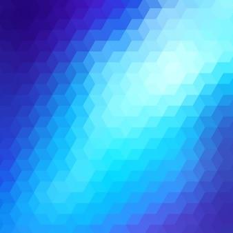 Fundo geométrico abstrato em tons azuis