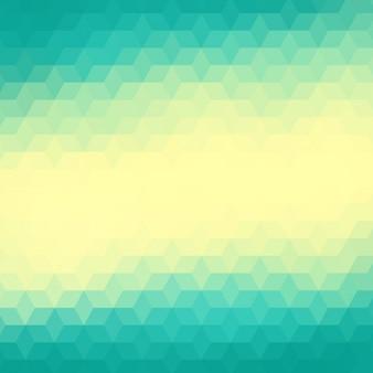Fundo geométrico abstrato em tons turquesa e amarelo