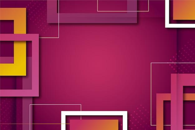 Fundo geométrico abstrato gradiente com quadrados