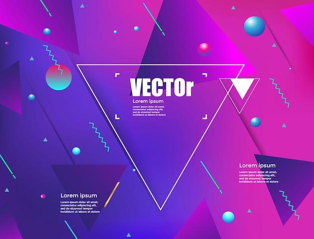 Fundo geométrico abstrato gradientes.