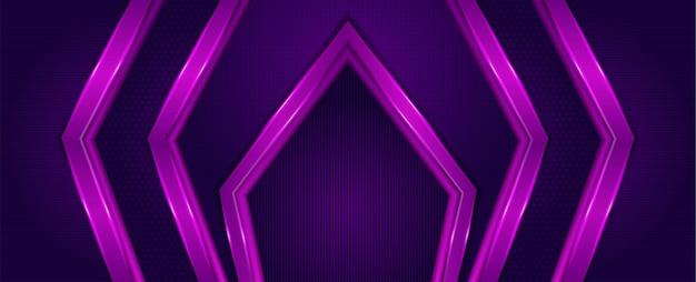 Fundo geométrico abstrato horizontal. gradiente de combinação roxo e rosa. strippes de estilo moderno.