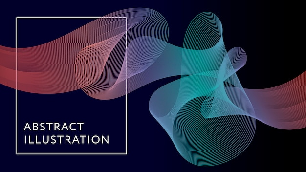 Fundo geométrico abstrato ilustração