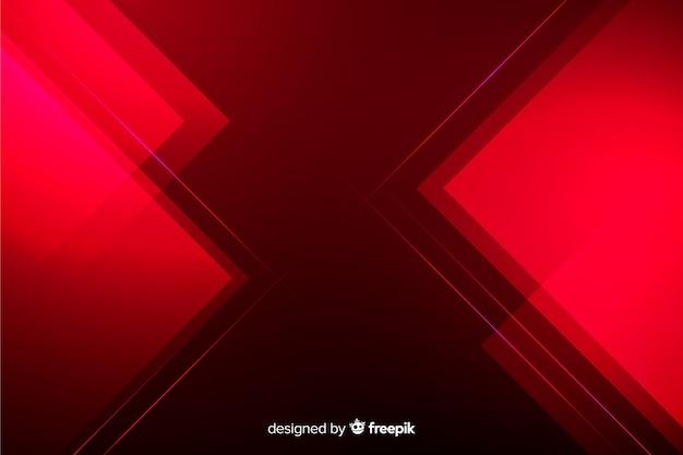 Fundo geométrico abstrato luzes vermelhas