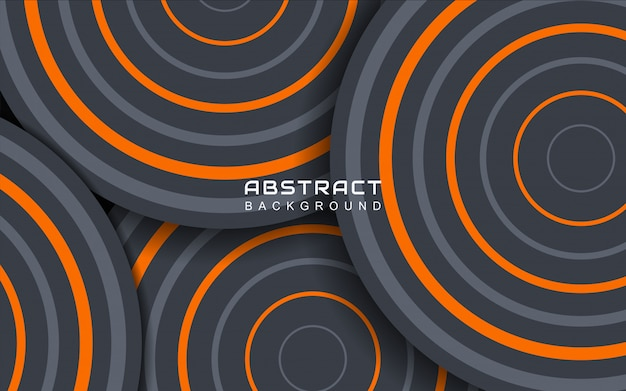 Fundo geométrico abstrato mínimo com linha listrada laranja