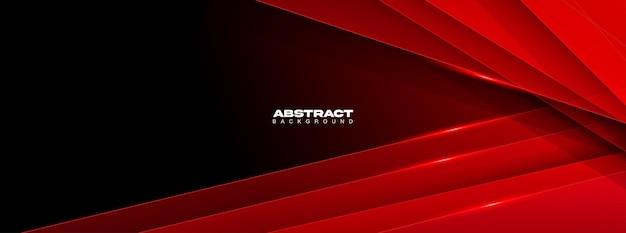 Fundo geométrico abstrato moderno da cor vermelha e preta.