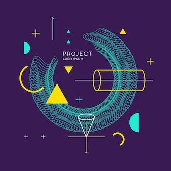 Fundo geométrico abstrato moderno