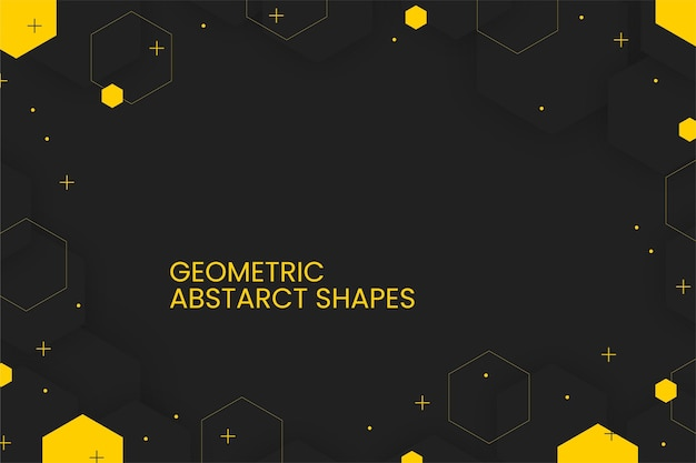 Fundo geométrico abstrato plano com formas abstratas