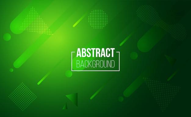 Fundo geométrico abstrato verde