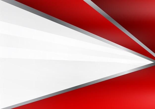 Fundo geométrico abstrato vermelho e cinza vector