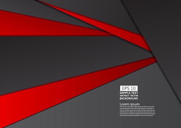 Fundo geométrico abstrato vermelho e preto