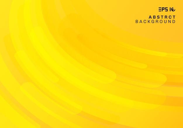 Fundo geométrico amarelo abstrato