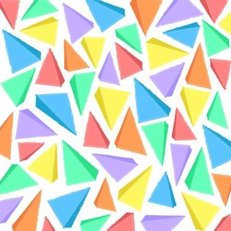 Fundo geométrico aquarela com triângulos
