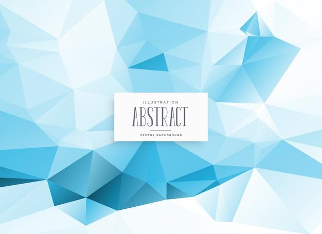 Fundo geométrico azul baixo poli abstrato