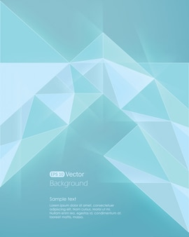 Fundo geométrico azul claro