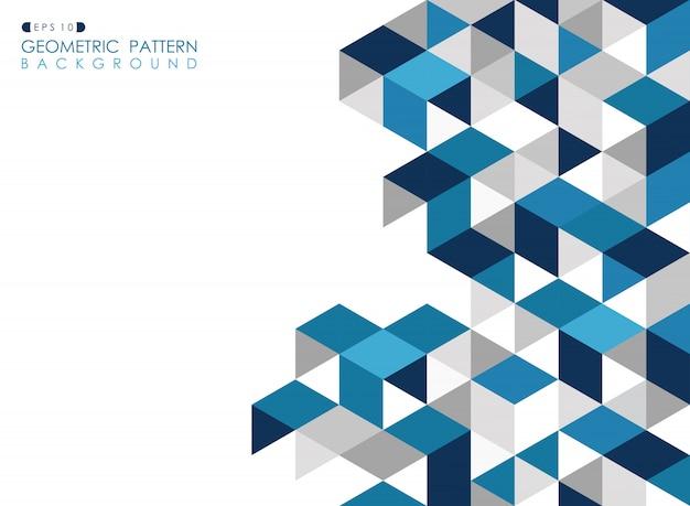 Fundo geométrico azul escuro abstrato