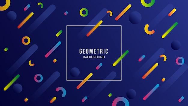 Fundo geométrico azul escuro