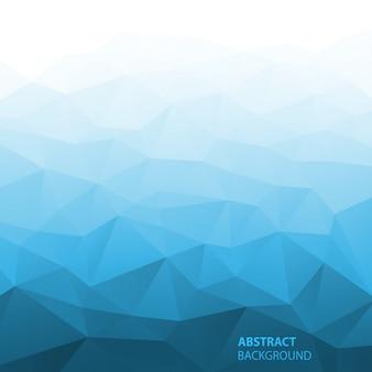 Fundo geométrico azul gradiente abstrato. ilustração