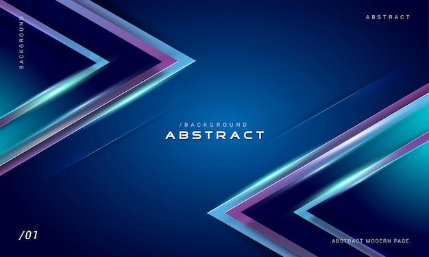 Fundo geométrico azul luz digital