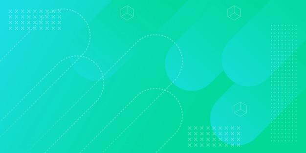 Fundo geométrico banner gradiente