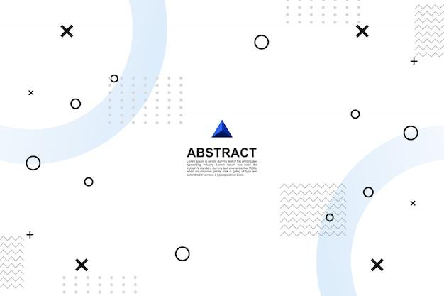Fundo geométrico branco moderno abstrato