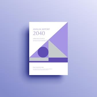Fundo geométrico, capa do livro, folheto, modelo, capa, design
