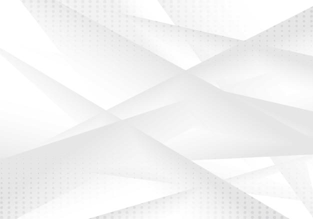 Fundo geométrico cinza e branco abstrato