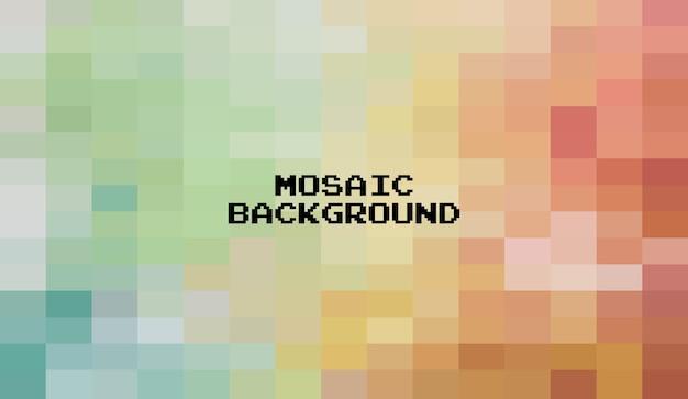 Fundo geométrico colorido abstrato, mosaico de grade de pixel art, fundo de 8 bits.