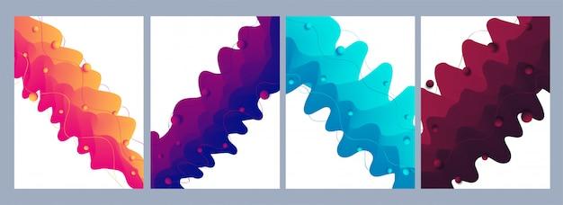 Fundo geométrico colorido. composição de formas fluidas.