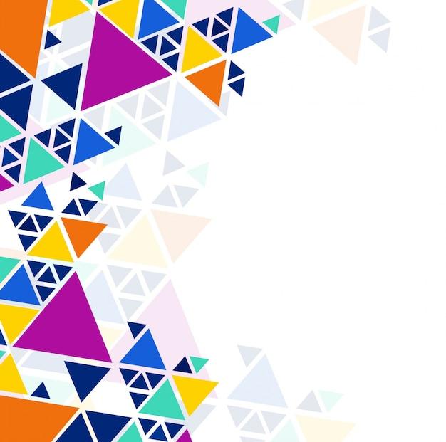 Fundo geométrico colorido moderno