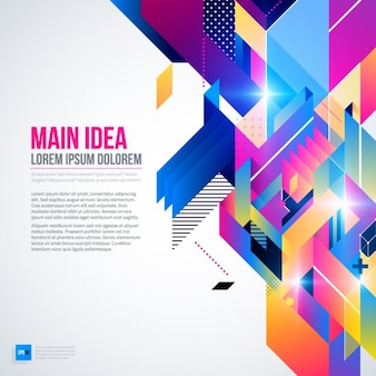 Fundo geométrico com cores brilhantes e estilo abstrato