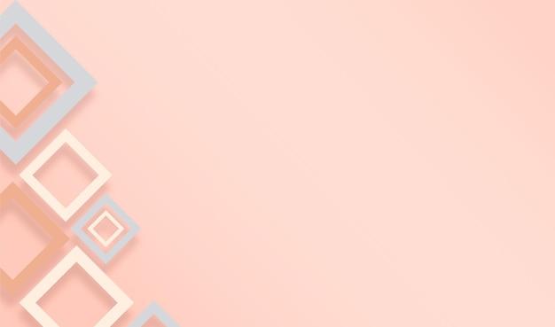 Fundo geométrico com cores pastel