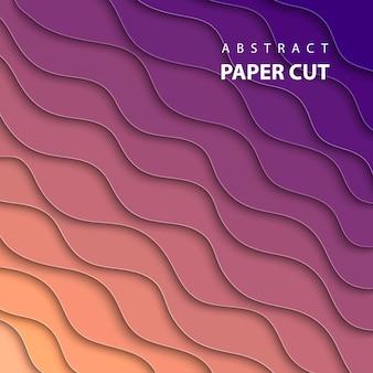 Fundo geométrico com corte de papel multicolor