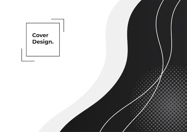 Fundo geométrico com gradiente de cor preta e cinza. fundo abstrato mínimo com elemento memphis. composição de formas dinâmicas