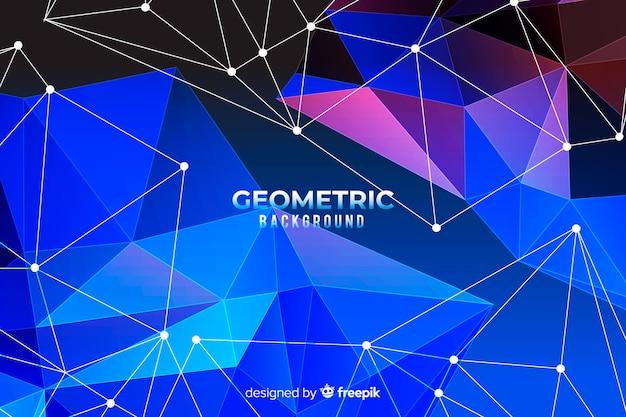 Fundo geométrico com gradientes