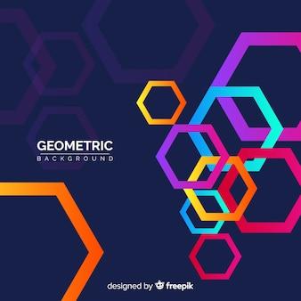 Fundo geométrico com partes gradientes