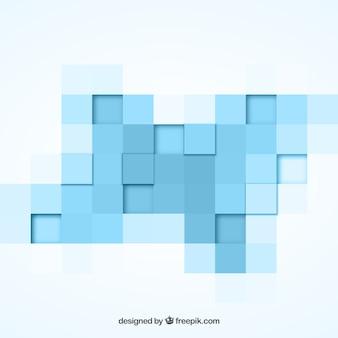 Fundo geométrico com quadrados azuis