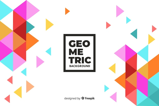 Fundo geométrico com triângulos