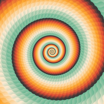Fundo geometrico concêntrico abstrato do redemoinho