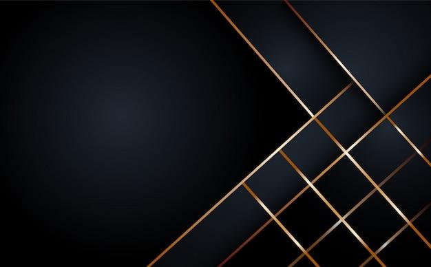 Fundo geométrico de camada abstrata preto