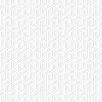 Fundo geométrico de cubo branco
