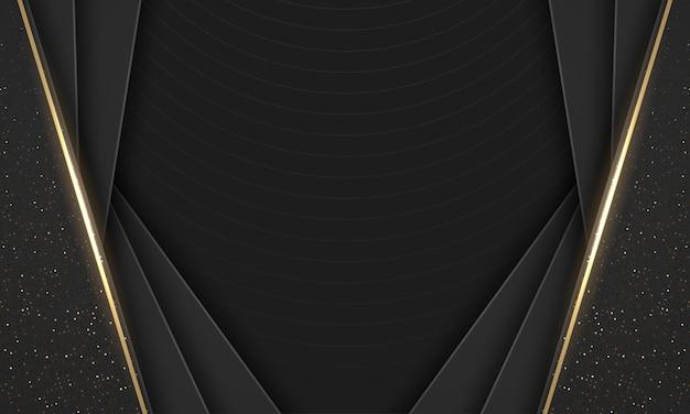 Fundo geométrico de desenho abstrato preto moderno