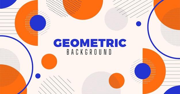 Fundo geométrico de desenho plano