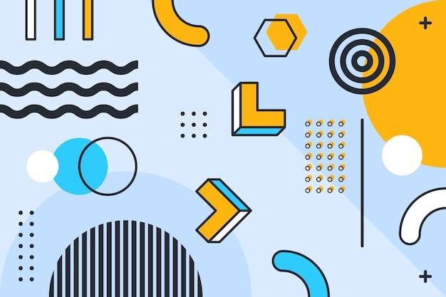 Fundo geométrico de design gráfico