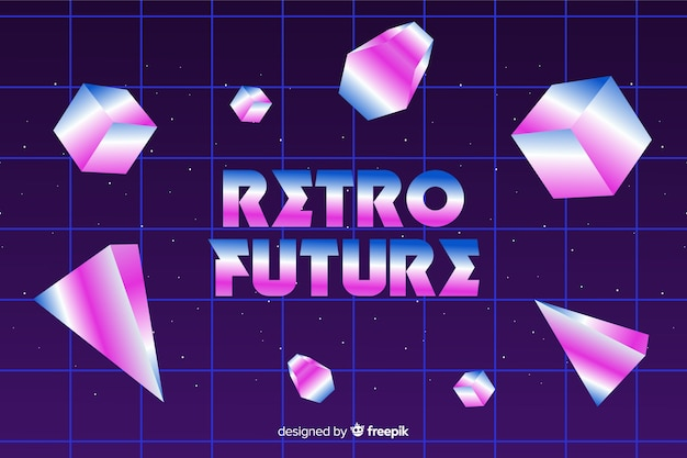 Fundo geométrico de estilo dos anos 80