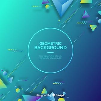 Fundo geométrico de formas 3d gradiente