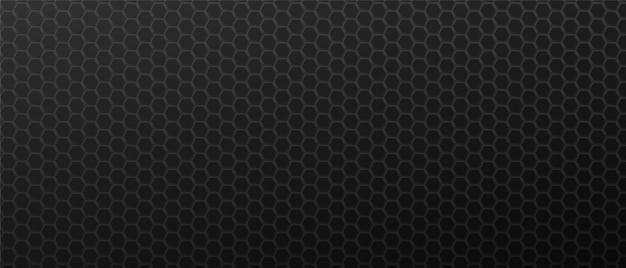 Fundo geométrico de hexágonos de decoração preta