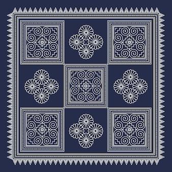 Fundo geométrico de hmong 2
