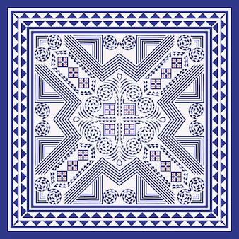Fundo geométrico de hmong
