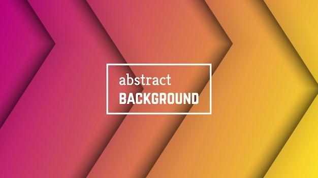 Fundo geométrico de linha mínima abstrata. forma de camada de linha laranja para banner, modelos, cartões. ilustração vetorial.