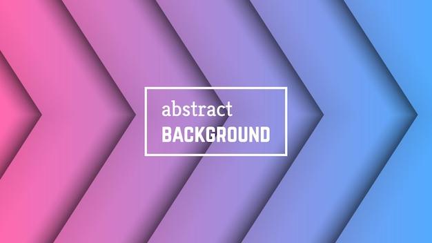 Fundo geométrico de linha mínima abstrata. forma de camada de linha rosa-azul para banner, modelos, cartões. ilustração vetorial.